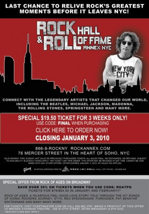 Poster - Rock Hall Rock Annex Final - 2009