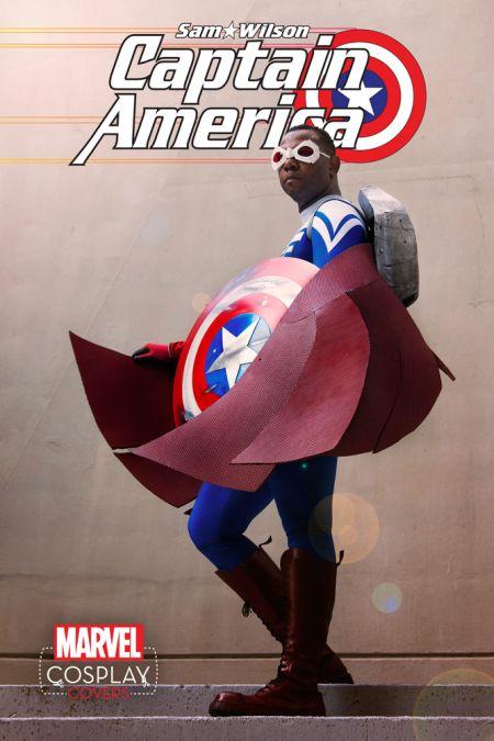 Sam Wilson Captain America #1 Cosplay Variant by Eddie Newsome