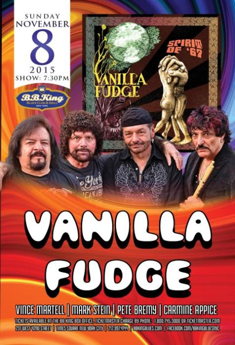 Poster - Vanilla Fudge at BB Kings - 11-2015