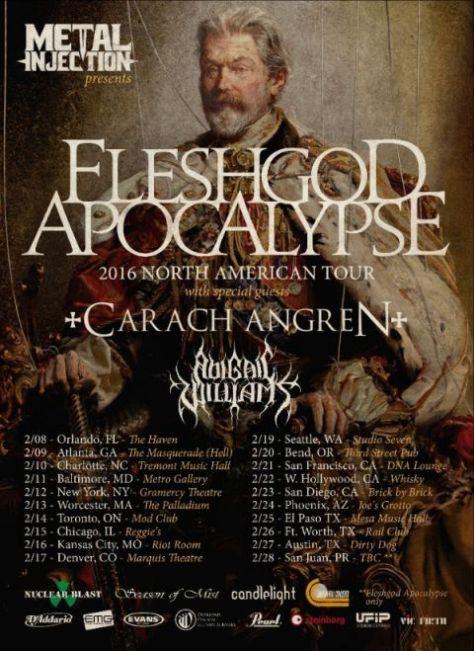 Tour - Fleshgod Apocalypse - Winter NA 2016