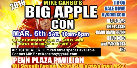 Banner - Big Apple Comic Con - 2016