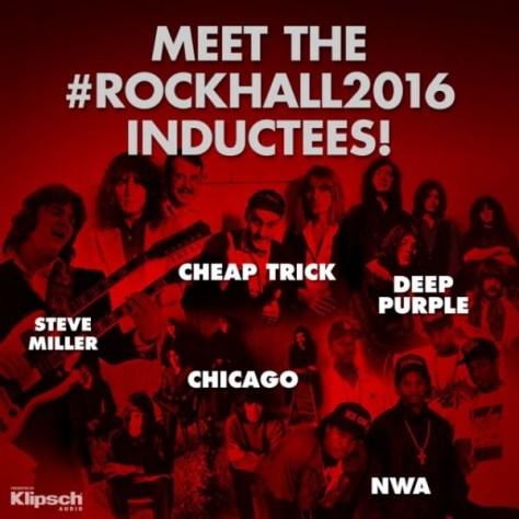 Photo - Rock Hall Inductees - 2016