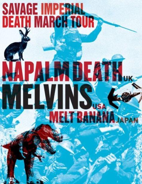 Tour - Napalm Death - Melvins - 2016