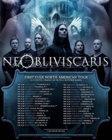 Tour - Ne Obliviscaris - Winter 2016
