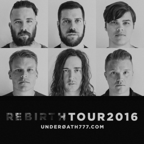 Tour - Underoath - Rebirth 2016