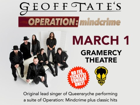 Poster - Geoff Tate at Gramercy Theatre - 2016