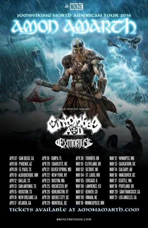 Tour - Amon Amarth - Jomsviking 2016