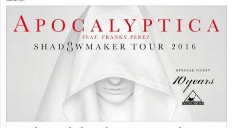 Tour - Apocalyptica - Spring 2016