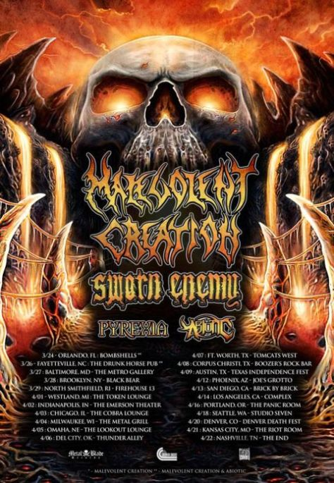 Tour - Malevolent Creation - 2016