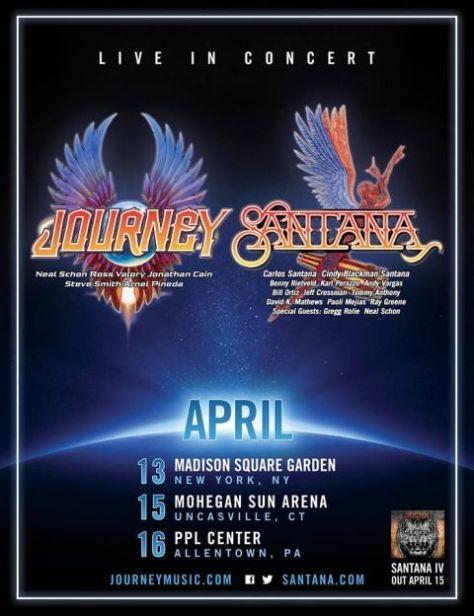 Tour - Journey and Santana - Winter 2016