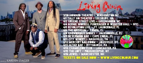 Tour - Living Colour - 2016
