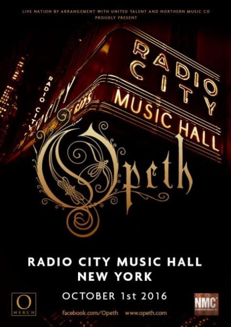Tour - Opeth - 2016
