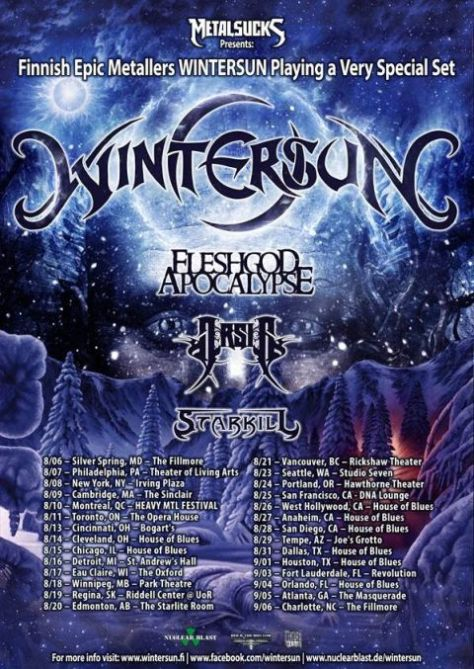 Tour - Wintersun - 2013