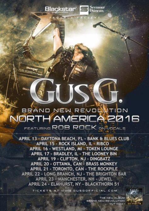Tour - Gus G - NA 2016