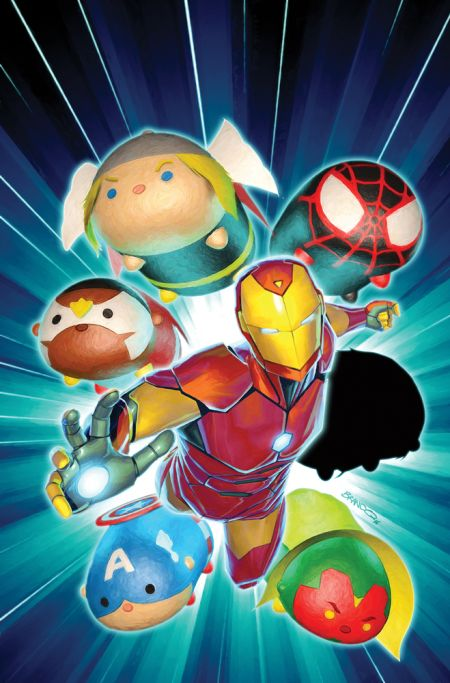 marvel comics, comic book covers, marvel tsum tsum takeover variants