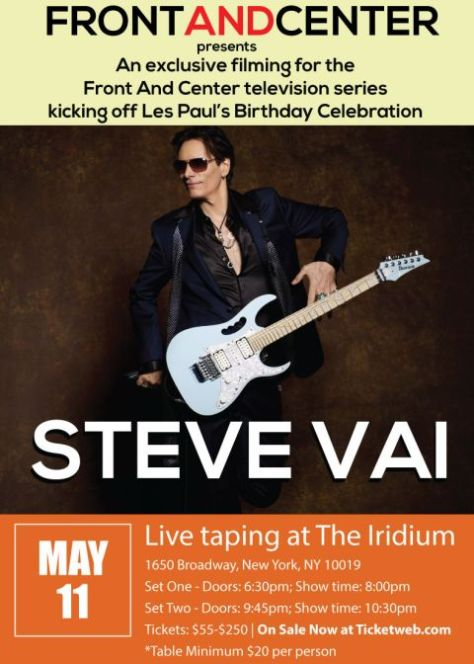 Poster - Steve Vai at Iridium - 2016