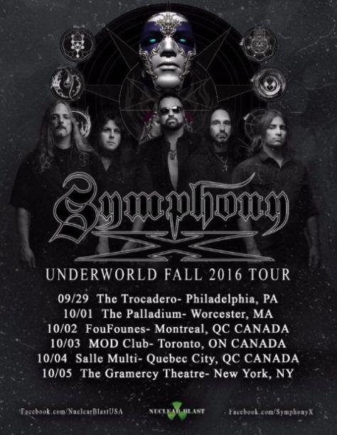 Tour - Symphony X - Fall 2016