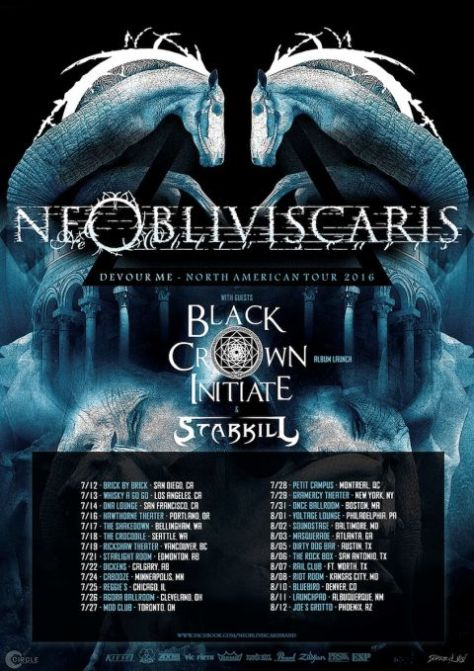 Tour - Ne Obliviscaris - 2016
