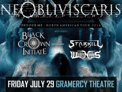 Poster - Ne Obliviscaris at Gramercy Theatre - 2016