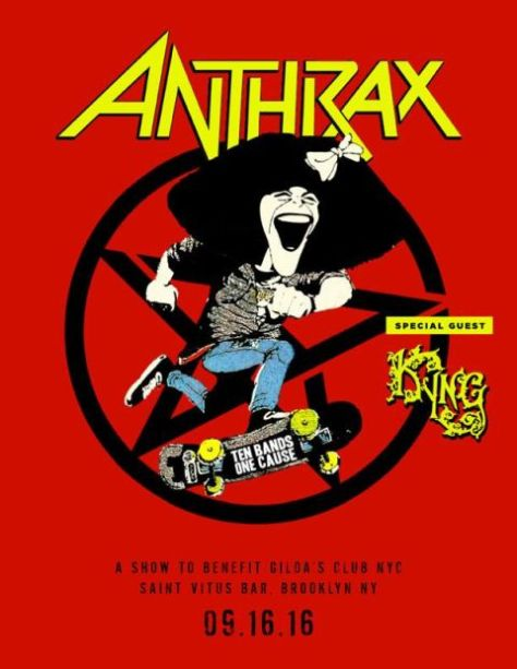 Poster - Anthrax at Saint Vitus Bar - 2016