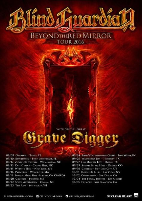 Tour - Blind Guardian - NA 2016