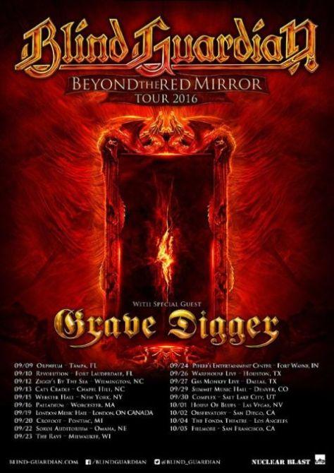 Tour - Blind Guardian - NA 2016