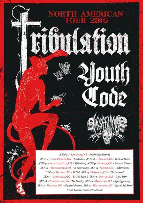 Tour - Tribulation - NA Headlining 2016