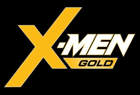 x-men gold comics logo