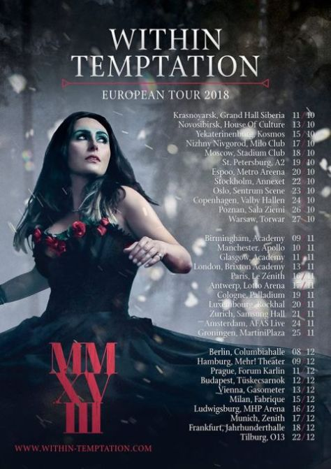 within temptation, tour posters, within temptation tour posters