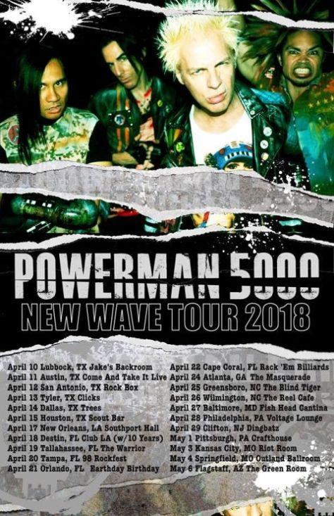 powerman 5000, tour posters, powerman 5000 tour posters