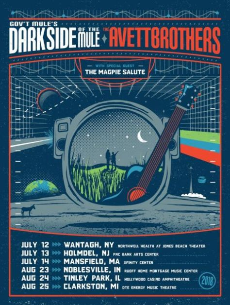Gov T Mule Amp Avett Brothers Co Headline Quot Dark Side Of The
