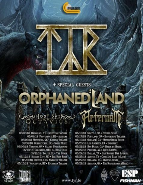 tyr, tour posters, tyr tour posters