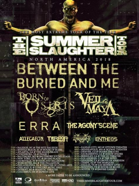 summer slaughter tour, summer slaughter tour posters, tour posters