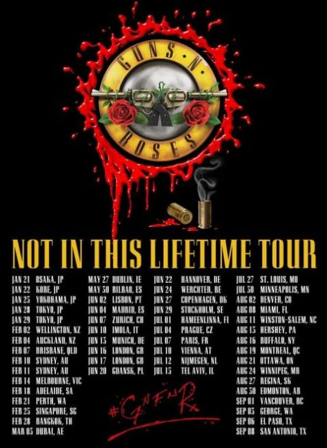 Guns N Roses To Continue Not In This Lifetime Tour In Europe For