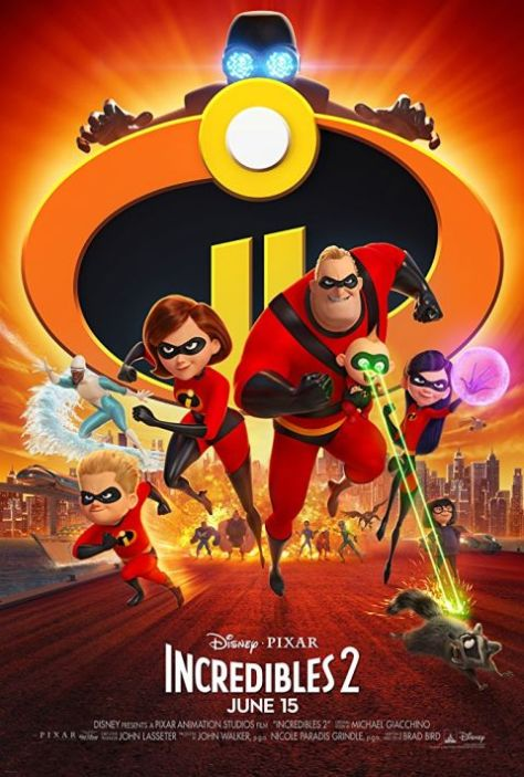 walt disney pictures, movie posters, incredibles 2