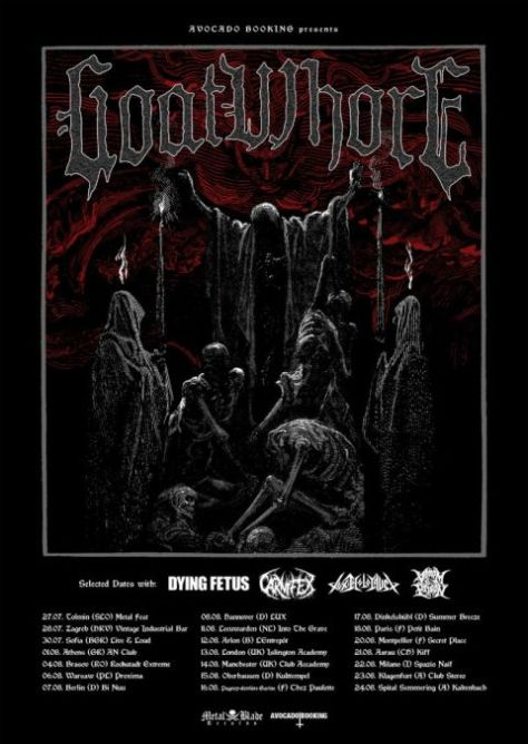metal blade records, tour posters, goatwhore, goatwhore tour posters