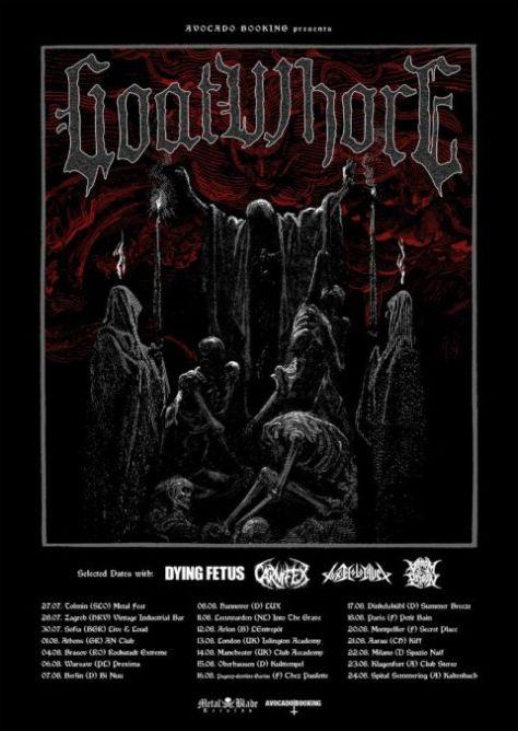 metal blade records, tour posters, goatwhore, goatwhore tour posters