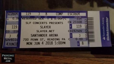 slayer concert ticket