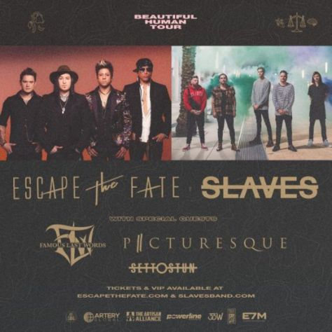 tour posters, escape the fate, slaves, escape the fate tour posters