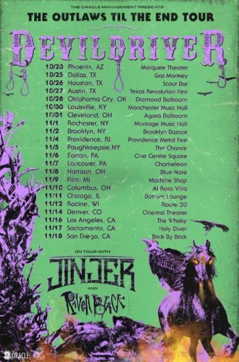 tour posters, devildriver, devildriver tour posters, napalm records artists