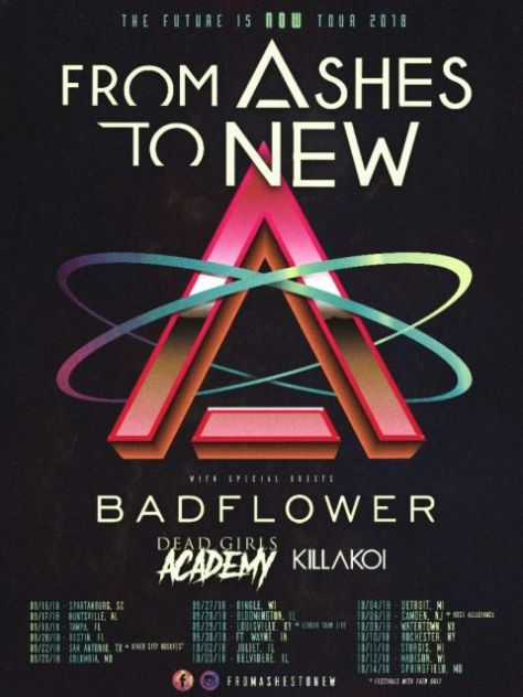tour posters, from ashes to new, from ashes to new tour posters