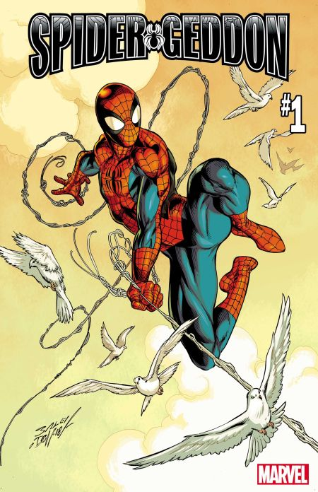 marvel comics, comic book covers, spider-geddon