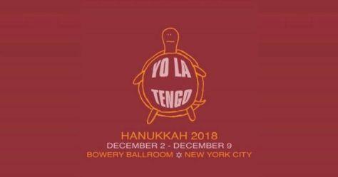 tour posters, yo le tengo, hanukkah residency