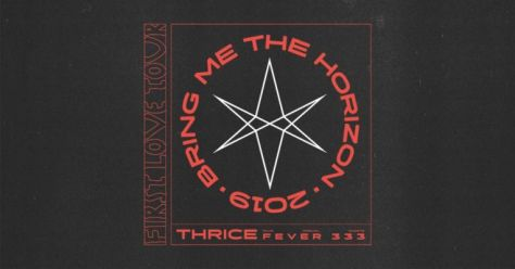 bring me the horizon, first love tour, thrice, tour posters, bmth