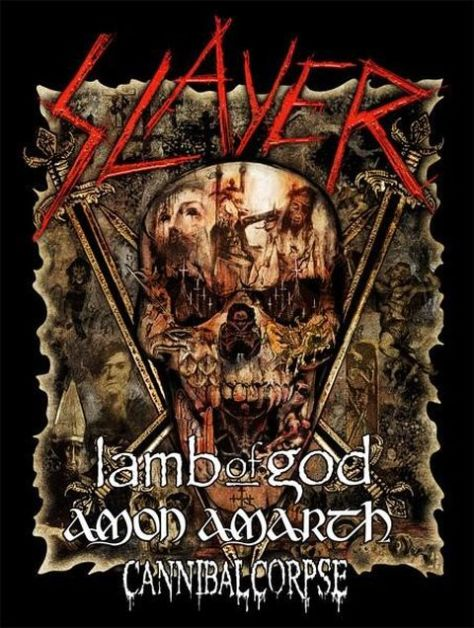 tour posters, slayer tour posters, slayer, nuclear blast records artists