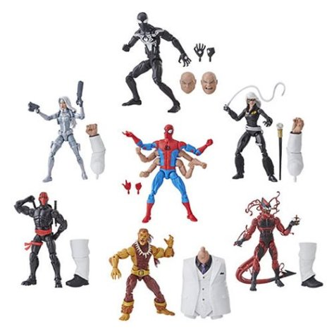 hasbro toys, marvel legends series, build-a-figure, spider-man action figures, hasbro action figures