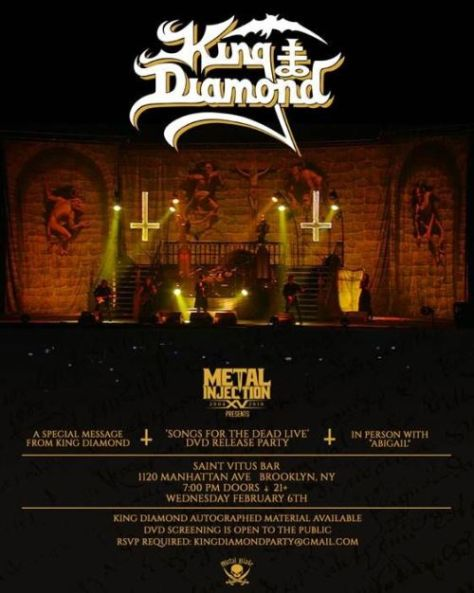 posters, king diamond, king diamond posters, metal blade records artists
