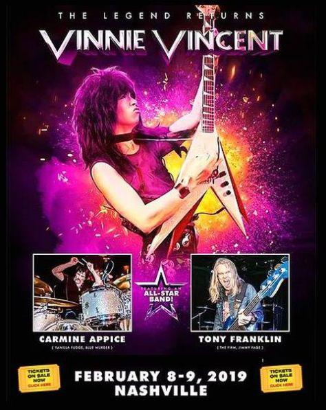 promotional posters, vinnie vincent