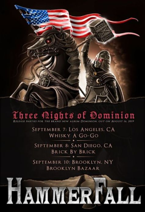tour posters, hammerfall, hammerfall tour posters, napalm records artists