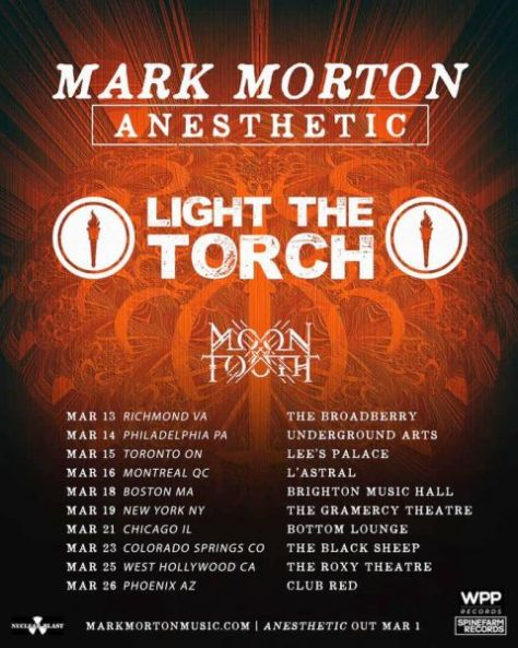 tour posters, mark morton, light the torch